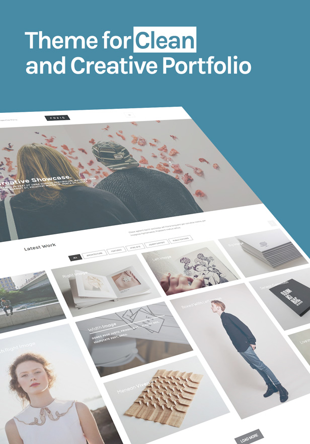 WordPress theme Freis - Creative Portfolio Theme (Portfolio)